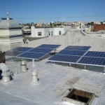 Solar on a silver roof